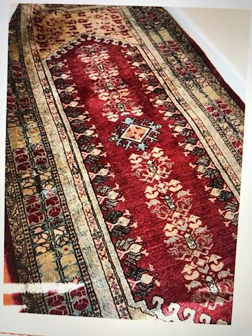 Hand Knotted Red rug 100% wool