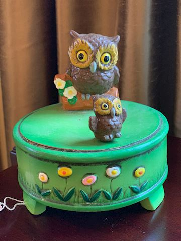 Vintage Gorham Dancing Owl Music Box