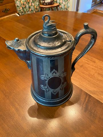 Antique Reed & Barton Double Wall Pitcher 1854