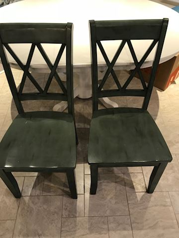 Beautiful green chairs