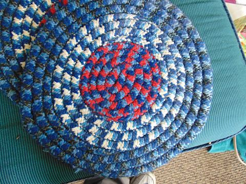 Four Rag Rug Seats