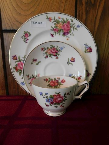 147 Bone China Single Dessert Plate-Cup-Saucer