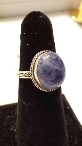 Lapis / sterling ring