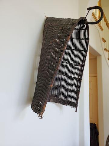 Japanese black/brown gathering basket