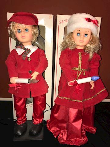 2 Electro-Plastics animated Christmas figures