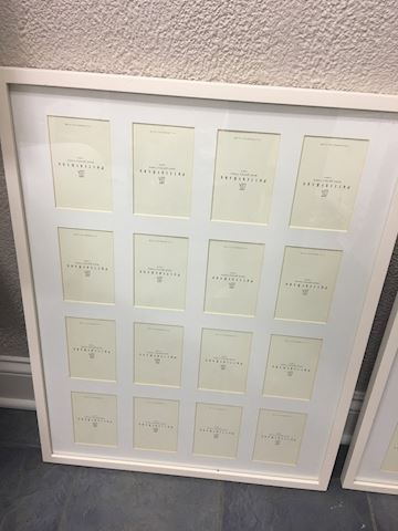 Lot of 2 Pottery Barn Multi Photo Picture Frames