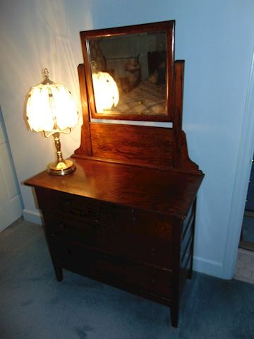 Antique Hand-Made Gentleman's Vanity