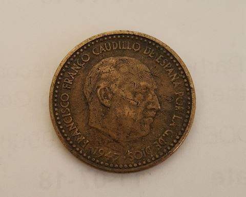Old 1947 Spain Coin