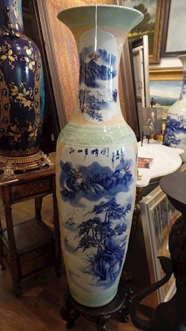 Pair of Palace Size Chinese Vases