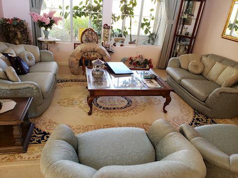 4 Pc Mint Green Living Room Set