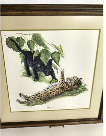 Jaguar Cubs Signed Art - RARE