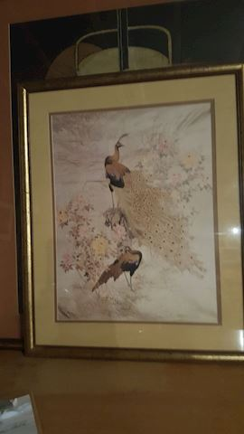 456104 Framed Artwork of Birds