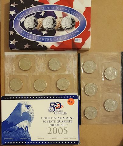 4 Sets of BU State Quarters