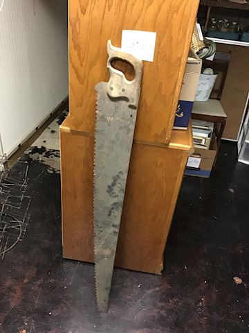 Antique Large Handsaw Dated 1887 - Lot 51