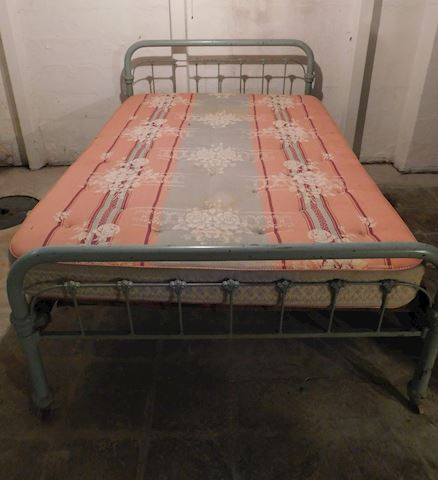 092 Light Blue Metal Bed Frame