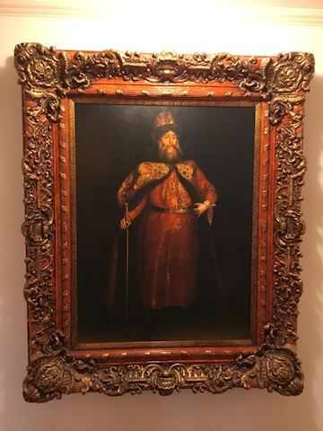 Very Large Ornate Frame with printed canvas