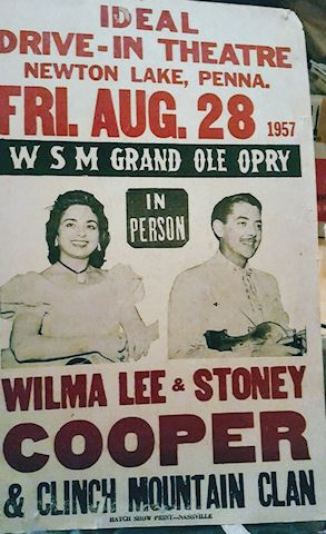 Grand Ole Opry Poster 1957, Wilma & Stoney Cooper