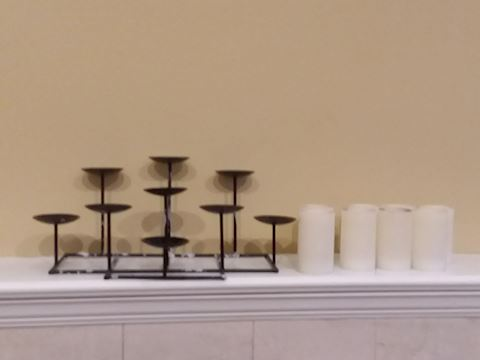 Candle holder & Flameless Candle Lot