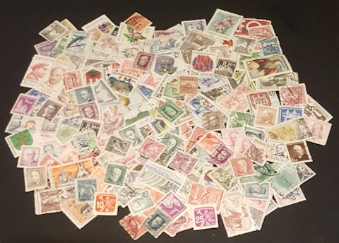 Estate Collection of 200 Old Czechoslovakia Stamps