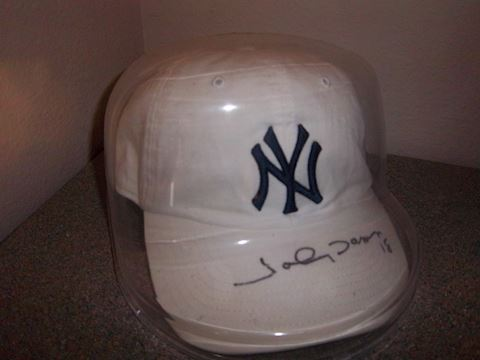 Signed Johnny Damon hat