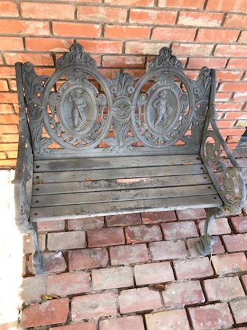112.  Yard.  Cast Iron Bench