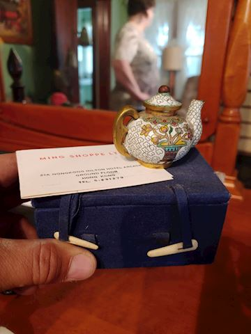 Chinese Cloisonne Mini Tea Pot