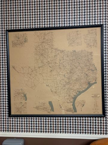 1971  Map of Texas