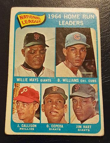 1964 Home Run Leaders Baseball Card #4