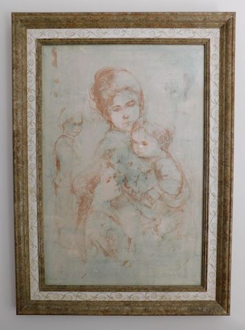 Lithograph - Signed, Limited Edition by Edna Hibel