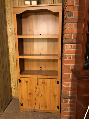 Two Compressed Wood Bookcases - matching set