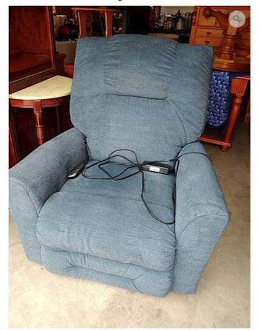 Blue Recliner Electric