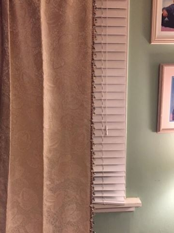 Set of 4 Custom Drapes with Sewn Crystals