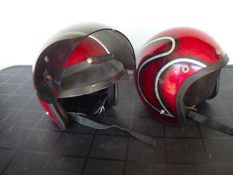 2 Norcon snowmobile helmets #70