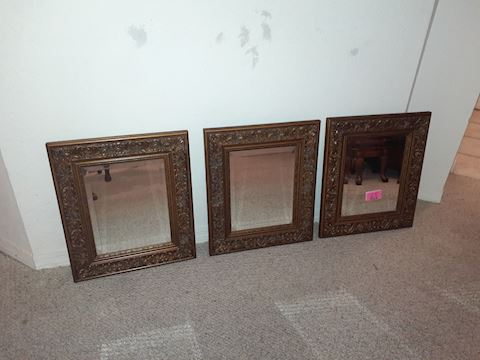 3  Matching Framed Mirrors
