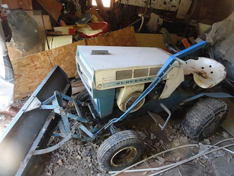 Sears lawn tractor, trailer & blade Lot #11