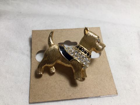 Swarovski Scotty dog pin brooch #91-05
