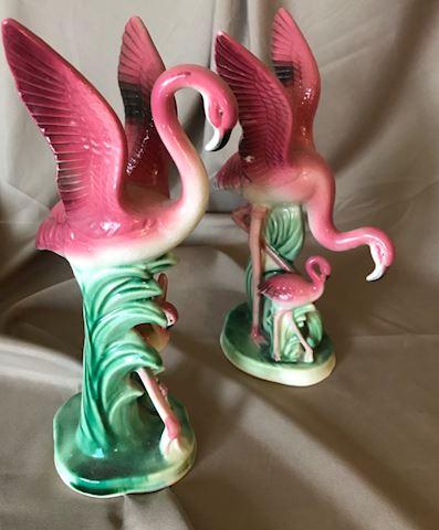 Pr of Lefton Flamingos