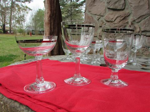 "Fostoria ""Reflection"" Stemware 20 pc Set 1952-1971"