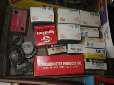 Lot #47 - Radiator Caps and More (Garage)