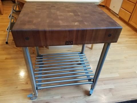 John Boos Cherry D'Amico Kitchen Cart