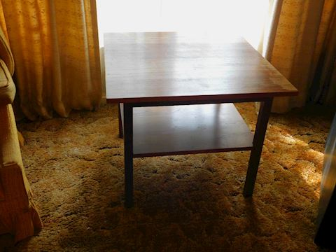 189 Worn Solid Wood Square Side Table