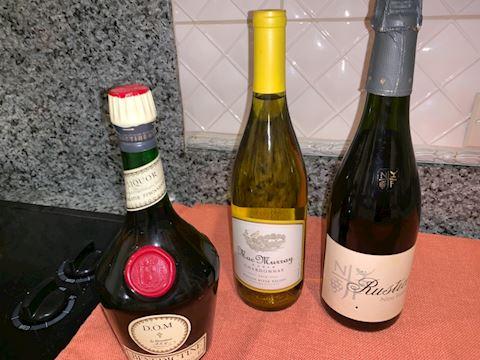 3 bottles liquor