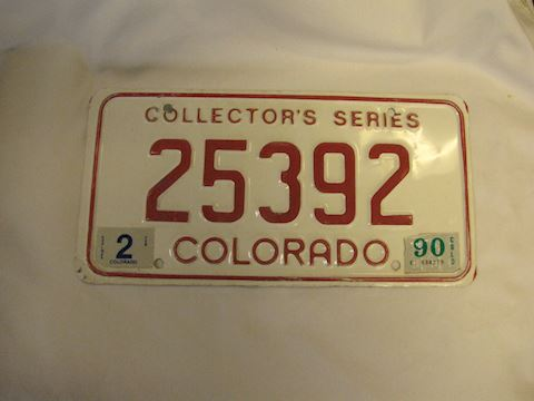 1990 Collector Series Colorado License Plate