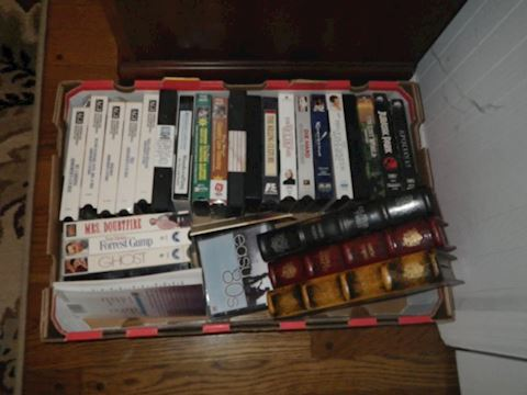 VHS Tapes and 3 Stash Boxes