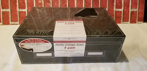 2 Old Town photo storage boxes 5x7
