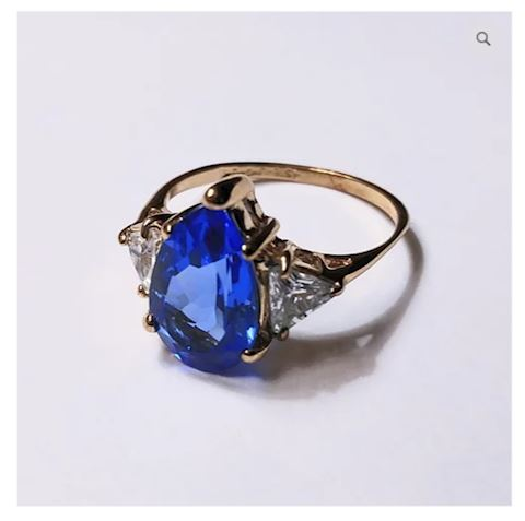 Dazzling Blue Sterling Silver Ring
