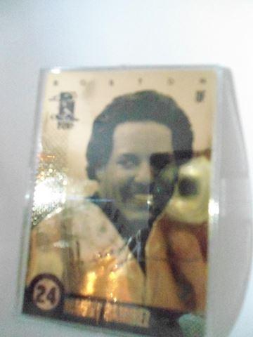 Manny Ramirez #24 Gold Laser Card