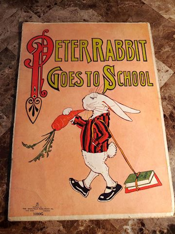 Peter Rabbit Goes to School 1917 - Rare Book