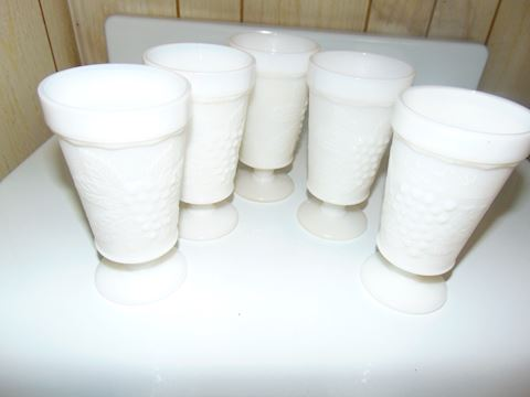 Vintage Milk Glass Beverage Glasses