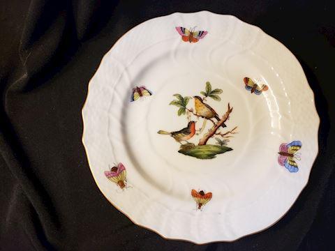 """HEREND HUNGARY ROTHSCHILD BIRDS 1515 RO 32 B/B 6"""""""
